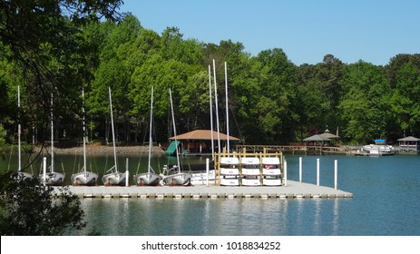 Boating Pier at Lake Norman in Huntersville, North Carolina