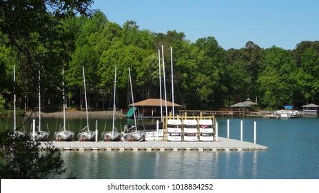 Boating Pier at Lake Norman in Huntersville, North Carolina