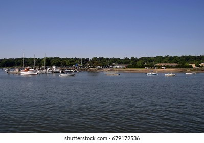Boats anchored in the bay - Greenwich, Connecticut
