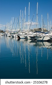 Boats at Antibes harbor, French Riviera