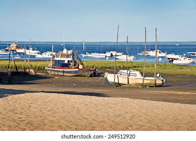Boats in the Bassin d'Arcachon, France