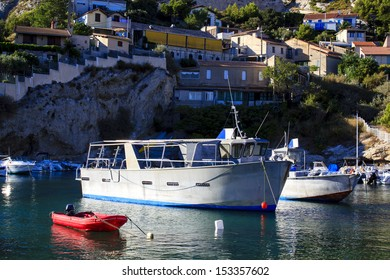 Boats in the bay of Niolon, The Blue Coast, south of France