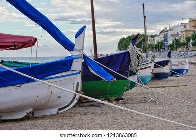 Boats at the beach of Sant Pol