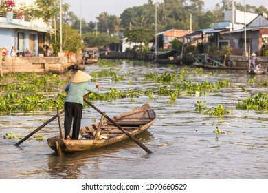 Boats are also being used as a taxi in Mekong Delta in Vietnam