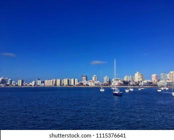 Boats by the coast. Punta del Este, Uruguay.