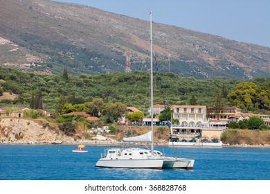 Boats at the coast, Greece
