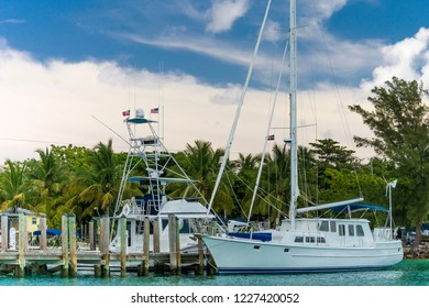Boats docked at Bimini