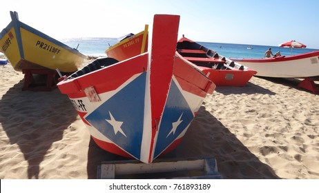 Boats docked in crash boat beach, aguadilla Puerto Rico before hurricane Maria