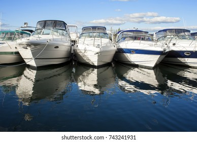 Boats docked in harbour