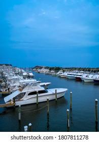 Boats docked in Manteo NC
