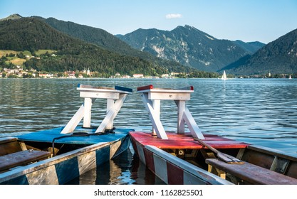 boats for a fishermen joust in bad wiessee - germany