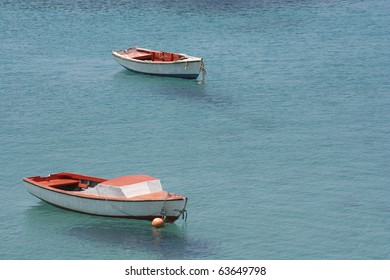 Boats floating in Curacao