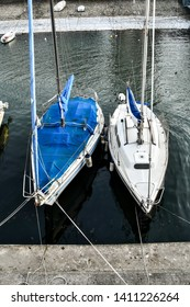 boats in harbor, photo as a background