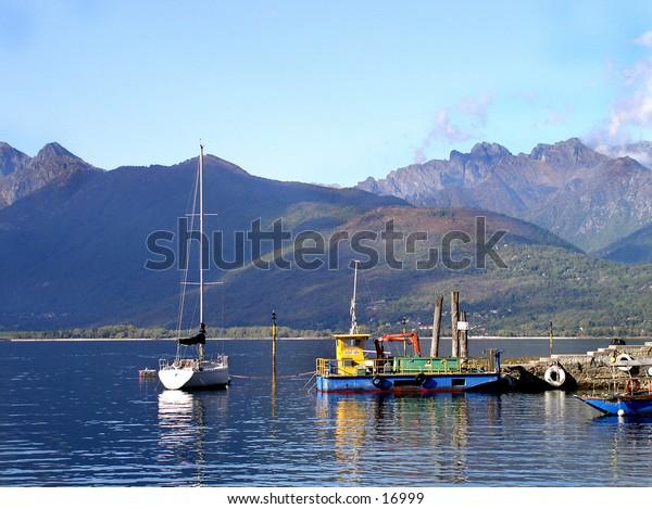 boats, Lake Maggiore,Italy
