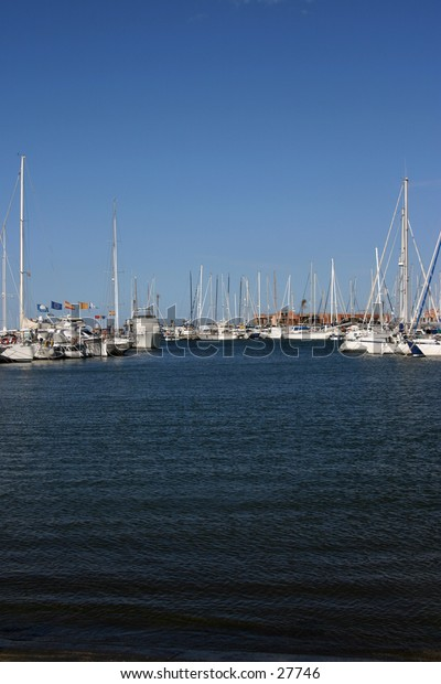 Boats in the marina in Denia in southern spain