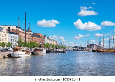 Boats moored in North Harbour (Pohjoissatama). Helsinki. Finland, Scandinavia, Europe