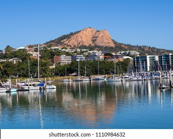 Boats moored in Townsville, a coastal city in northern Queensland, Australia and a gateway to the central section of the Great Barrier Reef.
