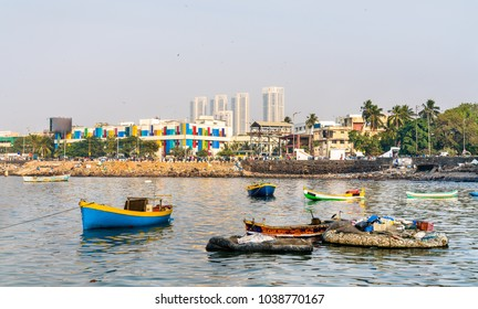 Boats near Haji Ali Dargah in Mumbai. Maharashtra - India
