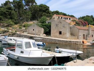 boats near Veli Losinj, Croatia