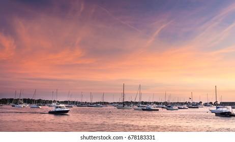 Boats in Newport