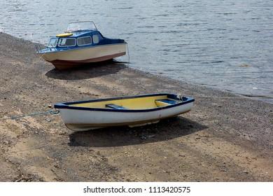 Boats at Oban harbour, Scotland.