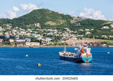 Boats off the beautiful coast of St Kitts