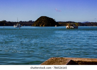 Boats on the Bay of Islands, New Zealand