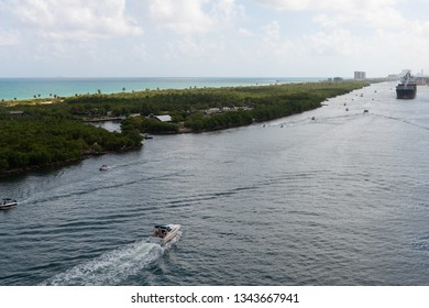 Boats on the Intracoastal Waterway, Fort Lauderdale, Florida