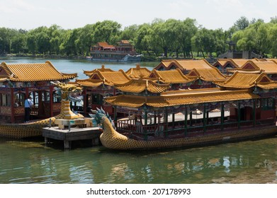 Boats on Kunming Lake at the Summer Palace