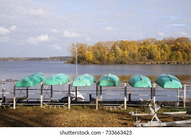boats on the lake