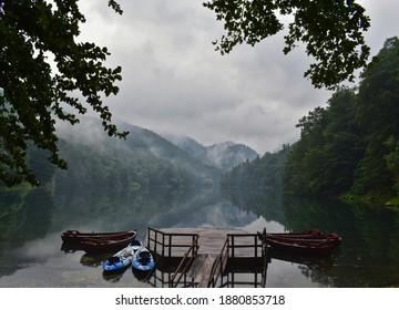 Boats on Lake Biograd, Biogradska Gora National Park, Kolasin, Montenegro - Shutterstock ID 1880853718