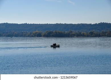 Boats on the lake Maggiore