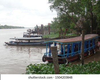 Boats on the Mekong Delta in southern Vietnam