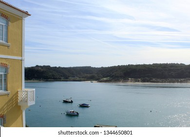 Boats on the Mira River, Vila Nova de Milfontes, Portugal