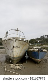 Boats on the mudbanks