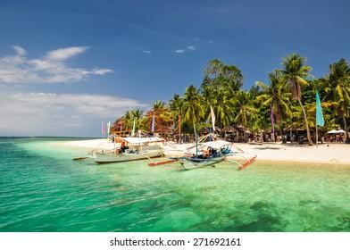 Boats on Pandan Island - Honda Bay, Palawan, Philippines