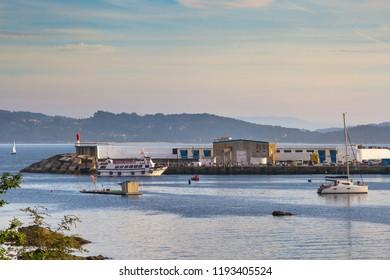 Boats on Portonovo harbor, Sanxenxo town, Galicia