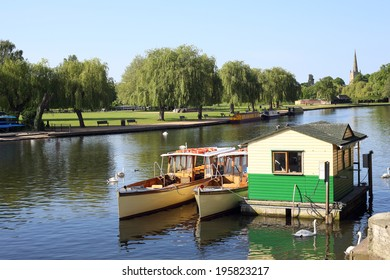 Boats on the River Avon at Stratford-upon-Avon