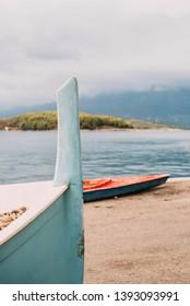 Boats on the sea coast