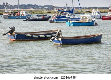 boats on the sea taken from west mersea in essex england