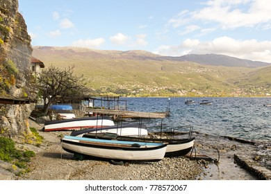 Boats on the Shores of Lake Ohrid