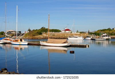 Boats on the Tamar River, Launceston, Tasmania, Australia