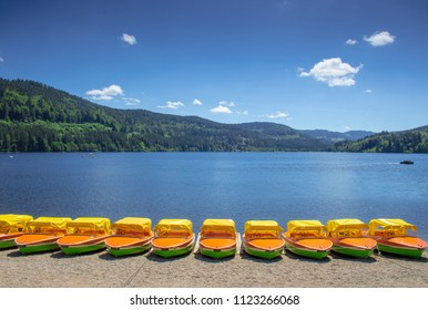Boats on the Titisee Black Forest Germany