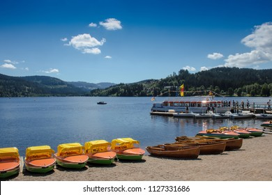 Boats on the Titisee Black Forest/Germany