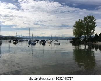 Boats at the Pier, Zurich, Switzerland