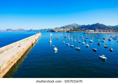 Boats at the port of Castro Urdiales. Castro Urdiales is a small city in Cantabria region in northern Spain.