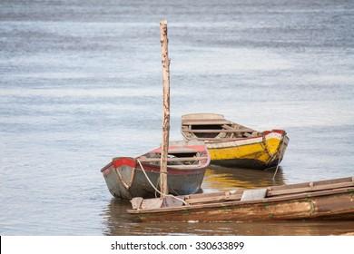 Boats at the Preguicas river - Barreirinhas - Maranhao - Brazil