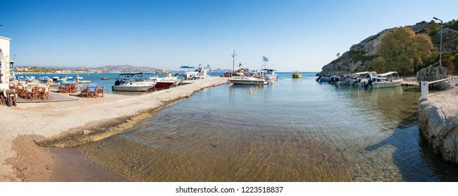 Boats in the quay in Kolymbia (Rhodes, Greece)