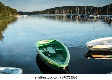 Boats in Schluchsee, Black Forest, Germany