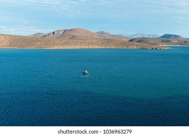 Boats in the Sea of Cortez, Pichilingue Harbor, La Paz, Baja California, Mexico